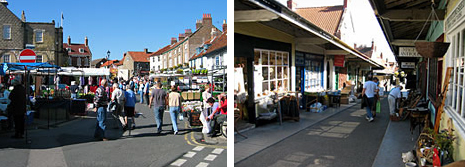 Saturday Market, Malton and The Shambles, Malton. Photos © Simon Thackray