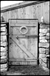 The original shed door